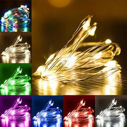 1-5M 10-50 LEDs Battery Operated Mini LED Copper Wire String
