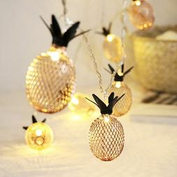 1.5m 3m Vintage Iron Pineapple Led String Lights Battery Pow