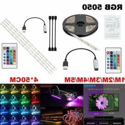 1-5M USB LED Strip Light RGB Color Changing Backlight Decor
