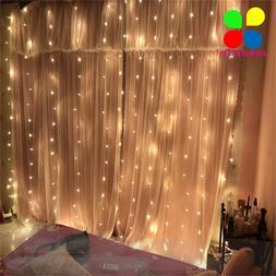 JOSOCCO 1.5X1.5M 3X3M 2x2M Christmas Curtain <font><b>Lights