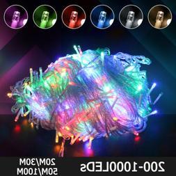10-100M LED Outdoor Fairy String Lights IP65 Xmas Garden Par