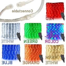 """West Ivory 10',20',25',50',150'ft Extendable 3/8"""" LED Rope L"""