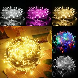 10-200M LED Plug In String Fairy Lights Garden Christmas Tre