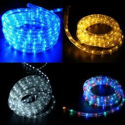 10/25' 110V Led Rope Light Outdoor Xmas Decorative Party Lig