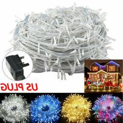 10-500LED String Fairy Lights 10-100M Plug 110V Christmas We