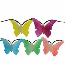 Sienna 10 B/O LED Butterfly Garden Patio Umbrella Lights wit