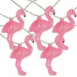 Northlight 10 B/O Pink Flamingo NoveltyLED String Lights - 4