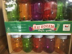 10 Colorful Mason Jar Party String Lights Indoor/Outdoor Dec