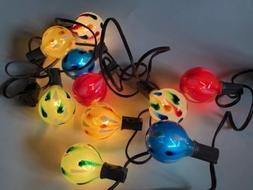 10 count Incandescent Multicolored Glass ball shaped Novelty