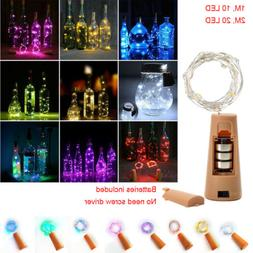 10 LED/20 LED Wine Bottle Cork Shape Lights LED Night Fairy
