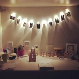 10 LED Hanging String Lights with Photo Display Clips Bedroo