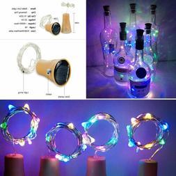 10 LED Solar Wine Bottle Copper Wire String light Bulb Cork