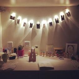 10 leds hanging string lights with photo