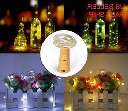 10 Pack Wine Bottle Fairy String Lights 20 LED Battery Cork