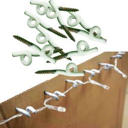 10 Screws Hangers Hook for Outdoor Wire Fairy Light Christma