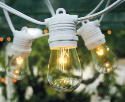 10 Socket Outdoor Commercial String Light Set, S14 Bulbs, 21