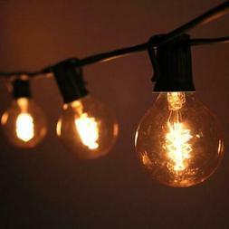 10 Socket Outdoor Patio String Light Set, G50 Edison Spiral