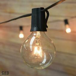 10 Socket Outdoor Patio String Light Set, G40 Clear Globe Bu