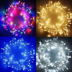 100-1000 LED Fairy String Lights Mains Plug Xmas Party Weddi