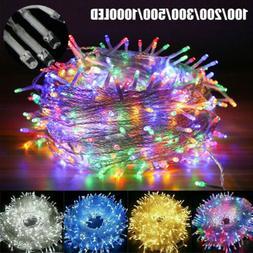 100-1000 LED Fairy String Lights Waterproof Indoor Outdoor X