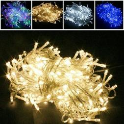 100/200/300/500/1000 LED Fairy String Lights Outdoor Party W