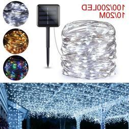 100/200 LED Solar Fairy Light String Lamp Outdoor Garden Lig