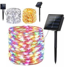100 200 led solar fairy string light
