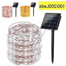 100 200 led solar fairy string light