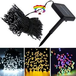 100-200 LED Solar String Lights Outdoor Garden Party Xmas Fa