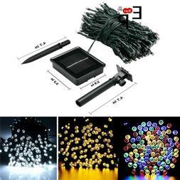 100-200 LED Solar String Lights Outdoor Garden Party Xmas Fa