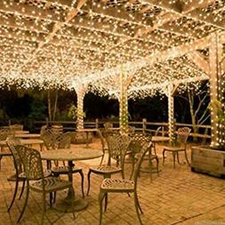 100-400LED Warm White String Fairy Lights Christmas Party We