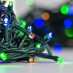 30 Ft. Multicolored 100 LED Battery Operated String Lights w