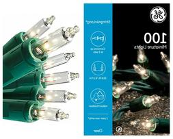 GE 100 Clear Miniature Lights On Green Wire String-A-Long 20