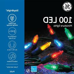 GE 100 Count 24.75ft Constant Multicolor Mini LED String Chr