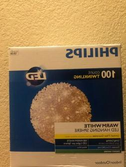 Philips 100 Count Cool White Twinkling Lighted LED Hanging S