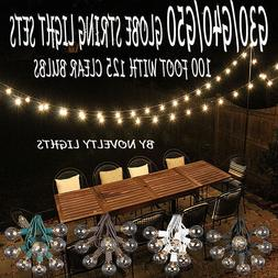 100 Foot Globe Patio Outdoor String Lights - Set of 125 G50/