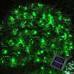 Yescom 100 LEDs Green Solar Powered String Light Flash+Stati