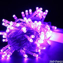 100 LED 10M Purple String Fairy Lights Christmas Wedding Gar