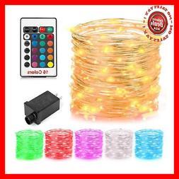 GDEALER 100 Led 16 Colors String Lights Electric Plug-in Mul