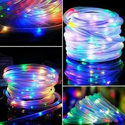 100 LED 32FT Solar Rope Tube Lights Waterproof String Light