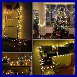 100 LED 50 FT Ball String Lights Fairy Plug In W Remote Cont