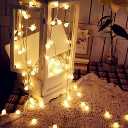 100 LED Globe Bulbs String Fairy Ball Lights Outdoor Waterpr