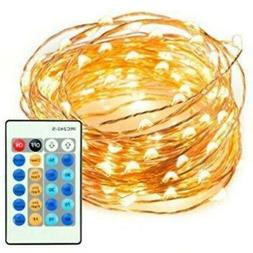 100 LED Warm White String Light Kit with Remote 33 Feet | Ch
