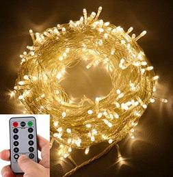 echosari 100 LEDs Outdoor LED Fairy String Lights Battery Op