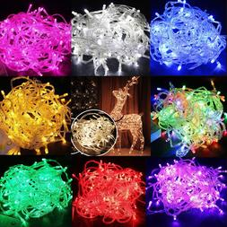 Battery Powered 100 LEDs Fairy String Outdoor Lights Xmas Tr