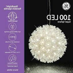 GE 100 Light 7.2-inch Random Sparkle LED Hanging Globe Super