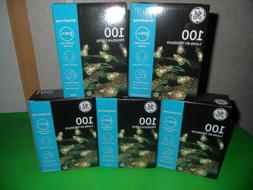 GE 100 Miniature Lights String-A-Long Clear Lot of 5 Boxes 5
