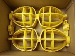 Temporary Jobsite Replacement Yellow Bulb Cages for Lightin