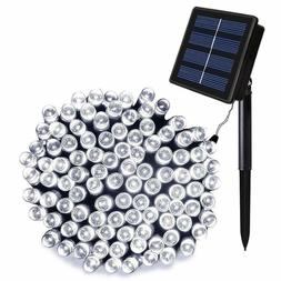 ORA 100 LED Solar Powered Outdoor String Lights, Bright Whit