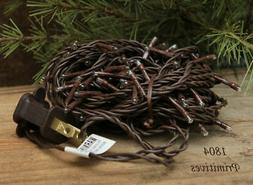 100 Super Bright Teeny Rice String Lights Brown Wire ~ CLEAR